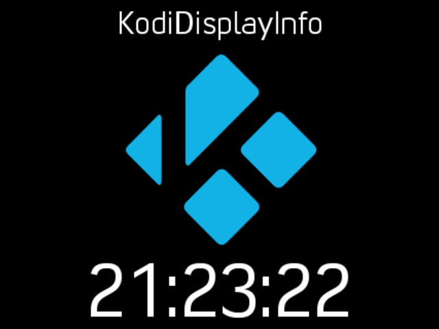 KodiDisplayInfo - Kodi API info for small TFT displays