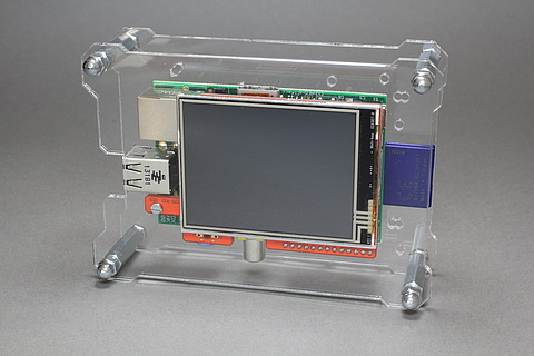 OpenDisplayCase with Raspberry Pi B and Watterott RPi-Display 2.8 inch A/B